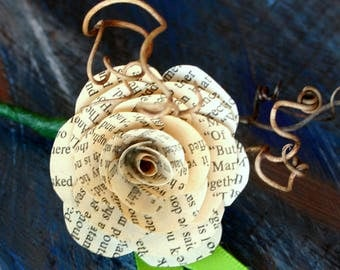 Book page Boutonniere - wedding, occasion, corsage