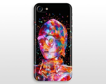 Star Wars C3PO iPhone 7 case, iPhone 7 plus case, iPhone 6 case , iPhone 6 plus, iPhone 5 SE, Samsung Galaxy S6 case Droid C-3PO Colourful