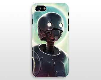 Star Wars K2SO iPhone 7 case, iPhone 7 plus iPhone 6 case , iPhone 6 plus, iPhone 5 SE, Samsung Galaxy S8 S7 S6 case Droid K-2SO Colourful