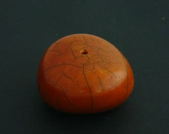 B1-  Huge antique polyester imitation amber bead