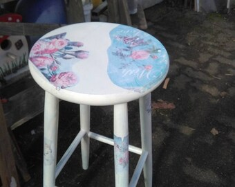 shabby bar stool