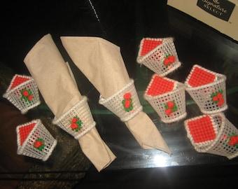 Eight Handmade/Homemade Napkin Holders/Napkin Rings