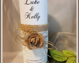 Personalised Wedding Engagement Candle