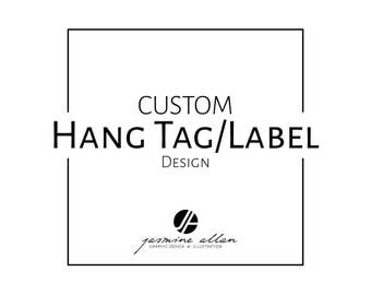 Hang Tag, Label Design, Custom, Packaging, Product Labels, Gift Tags, Personalised, Printable, Downloadable, Graphic Design