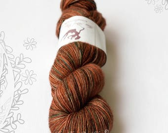 SILK MELODY - Road to Hell - hand dyed, extra fine merino and mulberry silk yarn, for knitting or crochet, singles