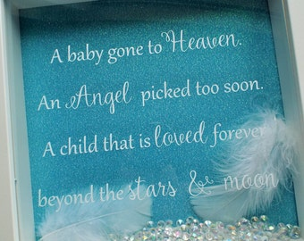 Angel baby, Baby loss frame, baby memorial gift, angel baby gift, angel baby frame, miscarriage keepsake