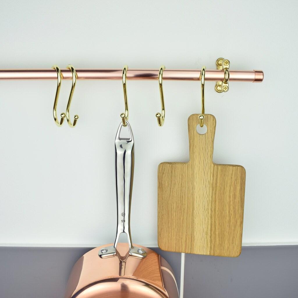 brass s hooks pot rack hooks brass hooks. Black Bedroom Furniture Sets. Home Design Ideas