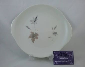 Royal doulton Tumbling leaves, translucent china, made in England. 1950s serving plate. Large royal doulton plate