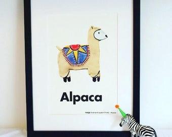 Nursery Wall Art / Nursery Prints / Zoo Animal Nursery/ Children's Art Print / Baby Art Print / Animal Nursery Decor / Kids Wall Art