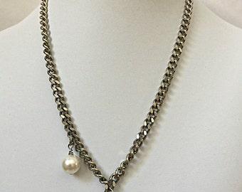 GLAMAZON Necklace    Skull    Pendant    Swarovski Skull    Crystal    Curb Chain