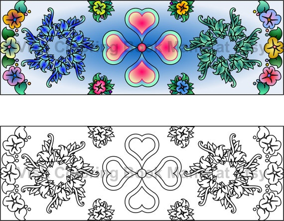 Flowers, Hearts, Leaves - Oh My! 8 delightful BOOKMARKS to COLOR - Download & print for yourself!!!
