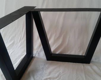 Metal Table Legs - Metal Trapezoid Table Legs - Metal Legs
