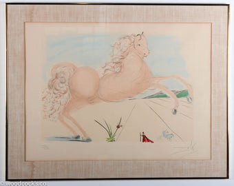 """Salvador Dali """"Horse"""" etching with aquatint, signed & numbered"""