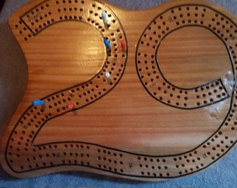Hand Crafted Cedar Cribbage Board