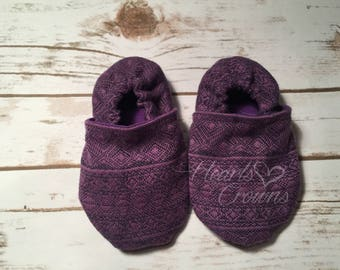 12-18month wrap scrap slippers with toughtek soles