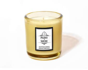 Peony and Suede - Premium Soy Scented Candle 200g
