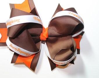Thanksgiving holiday hair bow