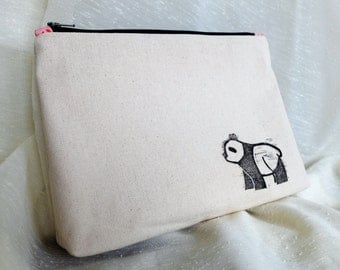Pink Panda Toiletry Bag