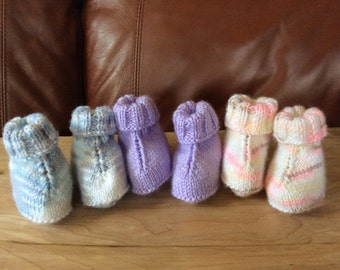 Baby Booties  6 Months - 2 Colors in stock