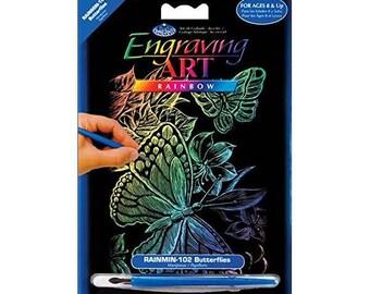 """Rainbow Foil Engraving Art Mini Kit 5""""X7"""""""