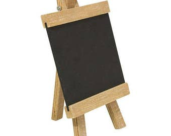 Wooden stand with Blackboard 10x18 cm