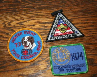 1970's Boy Scout Patches - Lot of 3