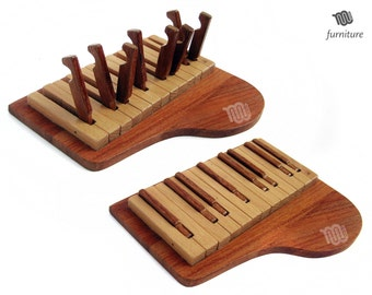 Piano Key Holder - wood handmade