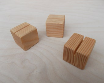 25 Unfinished stands, Place card holders, Wood place card holders, Table number holders, Wedding decor, Wedding, Photo props, Holders
