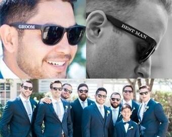 Printed Groomsmen Sunglasses (Groom, Best Man & Groomsman), Best Man Sunglasses, Wedding Sunglasses, Groom Glasses, Cheap Groomsmen Gifts