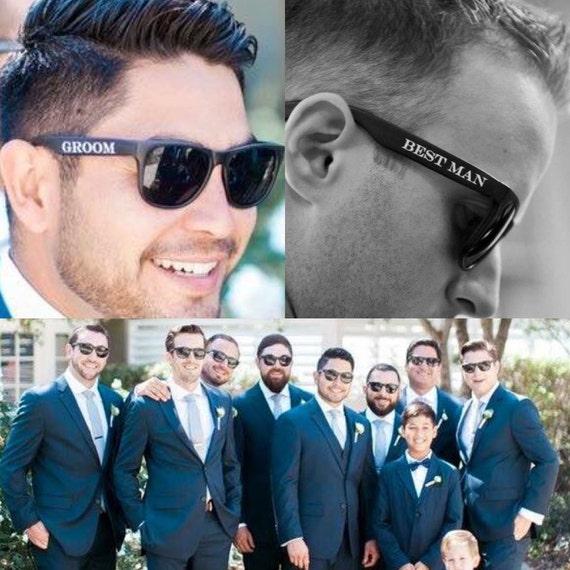 Best Man Wedding Gift Ideas: Printed Groomsmen Sunglasses Groom Best Man & Groomsman