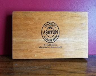 Ashton Cigar Box- wooden hinged box