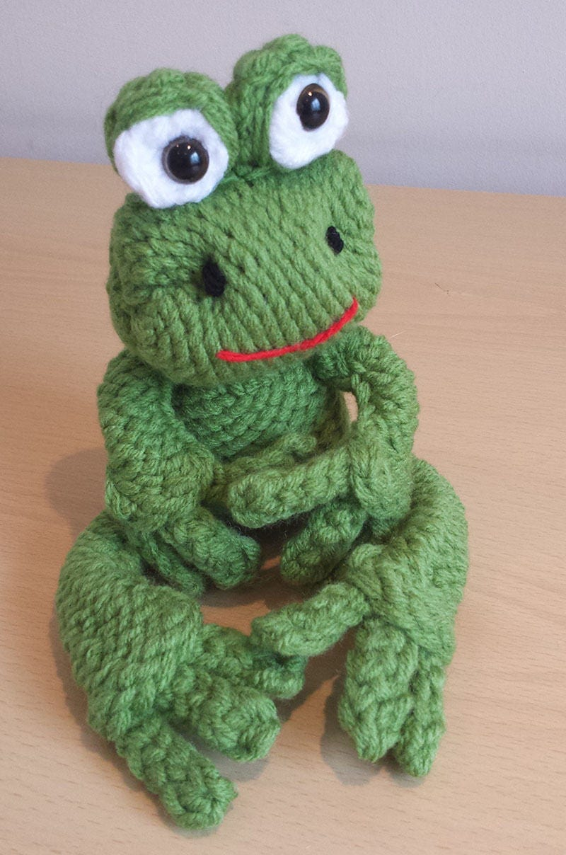 Loom Knit Frog Pattern From Loomanek On Etsy Studio