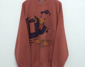 Vintage Donald Duck Sweatshirt / Donald Duck T Shirt / Walt Disney / Mickey Mouse