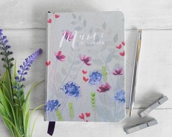 Ready made medium hand made notebook/journal, in my 'Heartfelt' watercolour design, perfect Mothers Day gift.