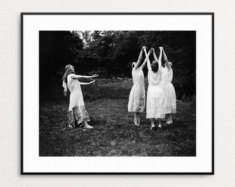 A Group of Ritualists Performing for Woman's National Party Event - Suffragettes Wall Art - Dance Circle - Feminist Art Print - Photo