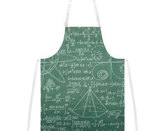 Math Geek Formula Chalkboard All Over Apron