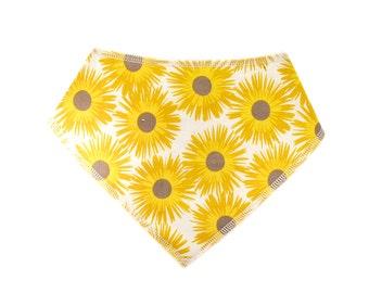 Baby Bandana Drool Bib - sunflowers