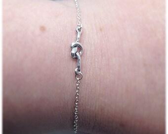 Love Knot Bracelet, Celtic Bracelet, Love, Celtic Jewellery, Ella Rose, Wedding Jewelry, Silver Love Bracelet, Love Charm, Silver Bracelet,