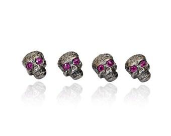 SDC-1457 Skull  Pave Diamond Charm
