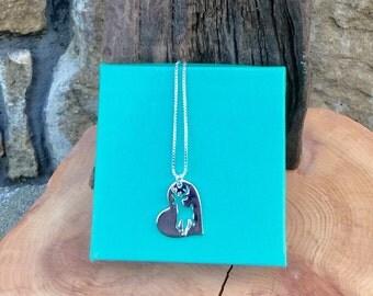 Deer heart necklace