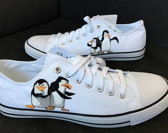 Penguins of Madagascar - Painted sneakers