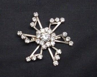 Vintage Starburst Brooch Riveted