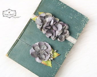headband set,silver flowers,flower headband,simple headband,Easter, spring, first birthday,birthday,cake smash photo, photo session,