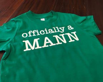 Officially a (Insert Custom Last Name Here!) Design on Short Sleeve, Crew Neck T-Shirt
