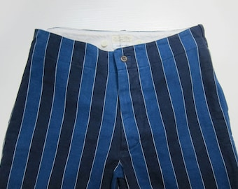 Beams Boy Yarn Dyed Blue Stripe Shorts Japan