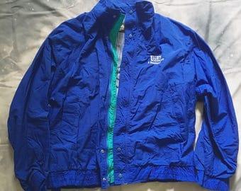 Blue Windbreaker Jacket Oversized Vintage 90s XL