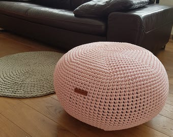 Light Pink Floor Pillows : Light pink pouf Etsy