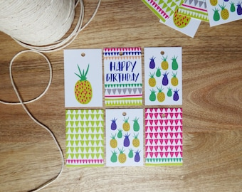 Gift Tags 6 Pack 'Pineapples'
