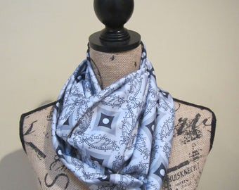 Cathedral Window One Ring Infinity Scarf