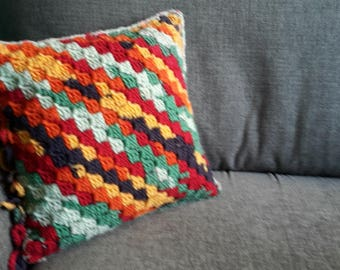 Crocheted Square Cushion